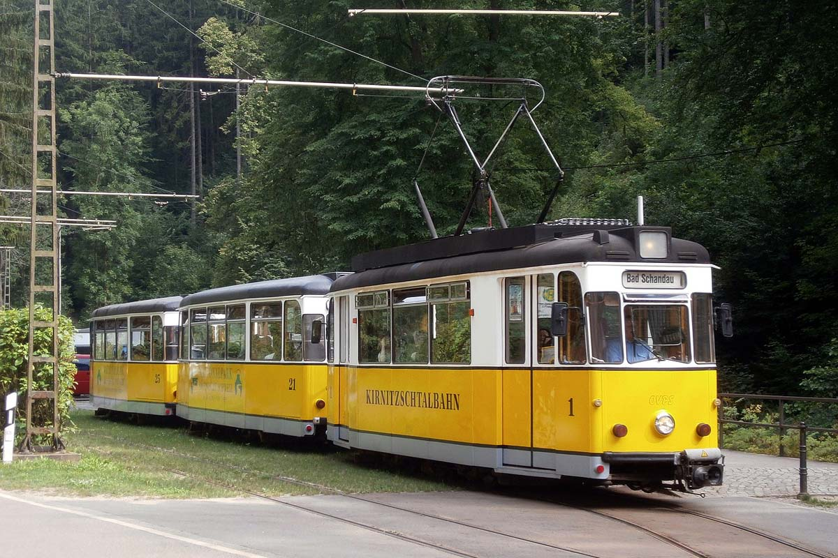 Bad Schandau - Kirnitzschtalbahn im Kirnitzschtal