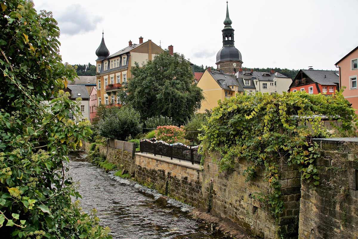 Bad Schandau - Blick auf Kirchturm