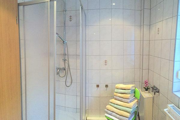 Ferienwohnung Sebnitzer Straße - Bad mit Dusche