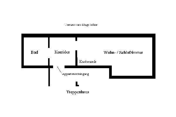 Appartement Sebnitzer Straße - Grundriss Skizze