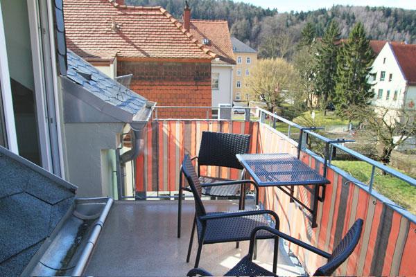 Ferienwohnung Lilienstein Rosengasse - Terrasse