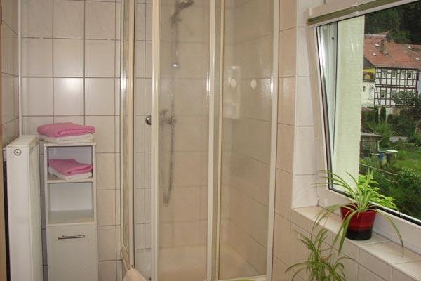 Ferienwohnung Zirkelstein Rosengasse - Bad mit Dusche