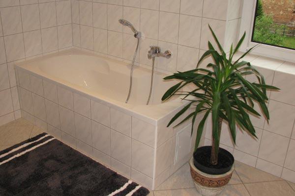 Ferienwohnung Zirkelstein Rosengasse - Bad mit Badewanne