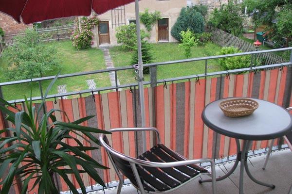 Ferienwohnung Zirkelstein Rosengasse - Terrasse