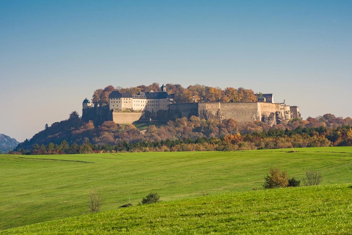 Blick auf die Festung Königstein - Sächsische Schweiz